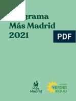 Programa Más Madrid-Equo para el 4-M, 2021