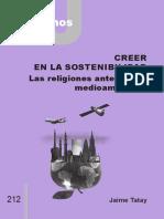 212 Cj - Creer en La Sostenibilidad. Las Religiones Ante El Reto Medioambiental