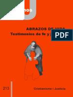 213 CJ - ABRAZOS DE VIDA. TESTIMONIOS DE FE Y JUSTICIA