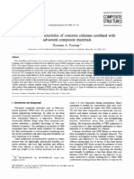 Durability characteristics of concrete columns confined with advanced composite materials
