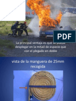 Plegado de mangueras de bombero en 4