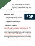II. LES SOURCES DE LA FINANCE ISLAMIQUE