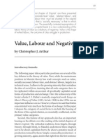 Arthur - Value, Labour and Negativity