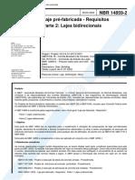ABNT NBR 14859-2 - 2002 - Laje pré-fabricada – Requisitos - Parte 2 - Lajes bidirecionais