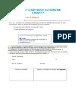 Contrat d'adhésion SycaPay AMOUMA