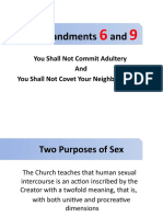 Commandments 6 and 9