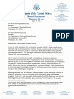 Letter to DHS and HHS