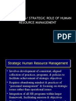 Jeffrey a. Mello 4e - Chapter 4 - The Evolving or Strategic Role of Human Resource Management