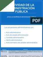TALLER 2 Actuaciones de la administración pública