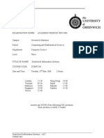 Distributed Information Systems Exam June 2006 - UK University BSc Final Year