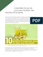 Top 10 des bienfaits du jus de canne à sucre pour la peau