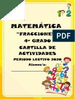 Cartilla de Matemáticas 4to
