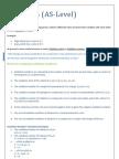 Chapter 6 - Electrochemistry (Chemistry AS - Level)