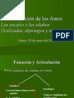 Fonación y articulación