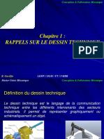 CMFM Cour 01 Rappels Dessin Technique