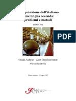 L'acquisizione dell'italiano come lingua seconda
