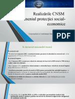 Realizarile Cnsm Protecția Social-economice