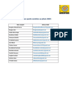 Liste Des Personnes Ayants Assistés Au Phare 2020