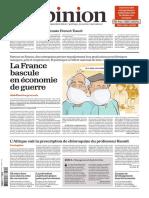 Journal L OPINION du Mardi 31 Mars 2020