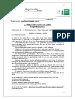 8ºano Língua Portuguesa-Avaliação Diagnóstica 2021 8º ano- Ensino Fundamntal