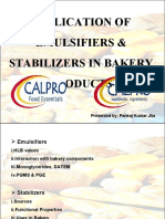 Application of Emulifiers & Stabilizers in Bakery Products