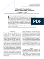 industrial crystallization - developments in research and technology