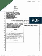 Brian Thienes Affidavit
