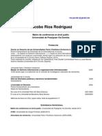 CV en español Jacobo Ríos Rodríguez Maître de conférences en droit public Universidad de Perpignan Via Domitia