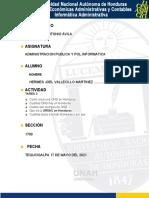 TAREA N° 3  ADMON PUBLICA Y POL.INFORMATICA