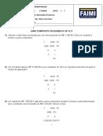 Exercícios de Juros compostos HP 12C