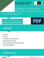 Utilização de Compósito com Matriz de Gesso Reforçado com Raspas de Pneus na Construção Civil