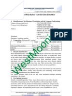 Chlorinated Polyethylene Material Safety Data Sheet