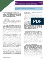 Séance 4 - Cours de Psychosociologie des Organisations 2020 (PL 2)