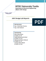 ASIC Design Lab Reports