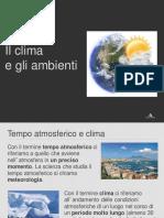 Climi e ambienti NUOVO