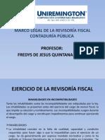 MARCO LEGAL DE LA REVISORIA FISCAL CONTADURÍA PÚBLICA FACULTAD DE CIENCIAS PARTE IV