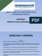 MARCO LEGAL DE LA REVISORIA FISCAL CONTADURÍA PÚBLICA FACULTAD DE CIENCIAS PARTE V
