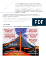 Un volcán es una montaña o cerro que tiene una apertura por la cual pueden escapar materiales gaseosos