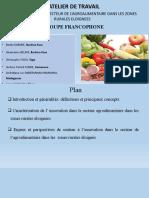 Innovation dans le secteur agroalimentaire