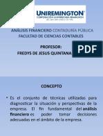 PRESENTACION ANÁLISIS FINANCIERO CONTADURÍA PÚBLICA FACULTAD DE CIENCIAS