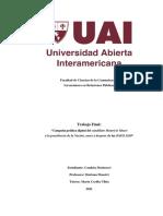 Campaña política digital del candidato Mauricio Macri a la presidencia de la Nación, antes y después de las PASO 2019