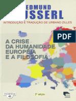 HUSSERL-1-42 - A CRISE DA HUMANIDADE