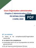 Séance 2 Avril Organisation Administrative