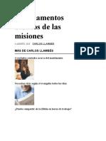 7 fundamentos bíblicos de las misiones