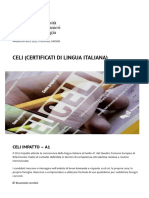 CELI (Certificati di Lingua Italiana) _ Università per Stranieri di Perugia