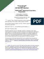 Walker v. City of Portland, 693 P. 2d 1349 - Or Court of Appeals 1985