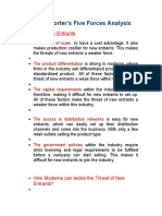Moderna Porter's Five Forces Analysis