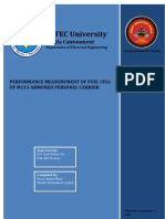 Performance Measurement of Fuel Cell of M113 APC