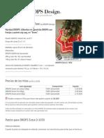 """Under the Christmas Tree - Navidad DROPS_ Alfombra en ganchillo DROPS con franjas y patrón zig-zag, en """"Snow"""". - Free pattern by DROPS Design"""