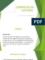 CONTRATOS DE CUSTODIA